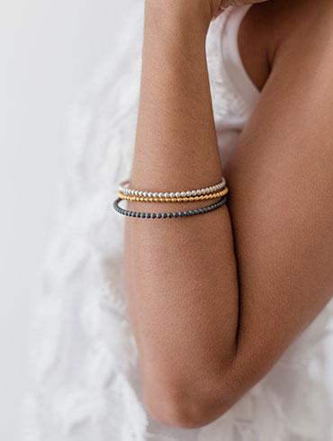 Black, Gold & Silver Bracelet