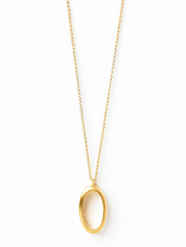 Ellipse Necklace Gold