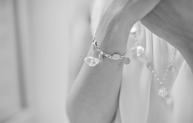 Silver Rock Crystals Bracelet