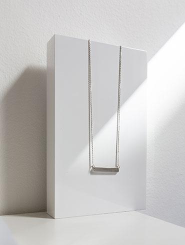 Transverse Necklace Silver