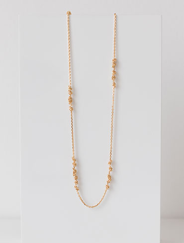 Knots Necklace Gold