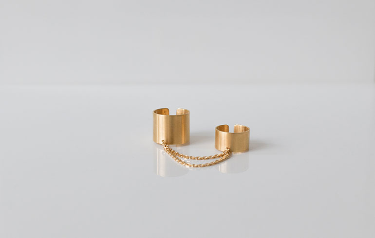 Chain Reaction Ring Gold