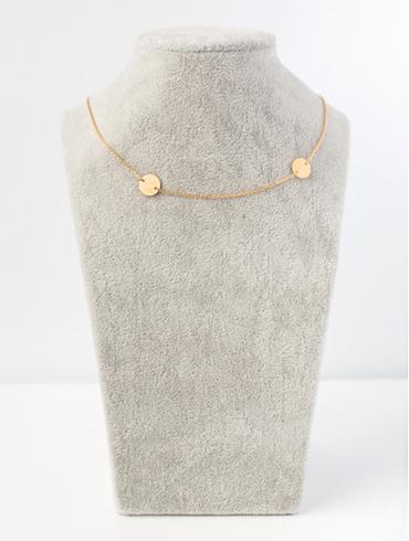 Pailettes Necklace Gold