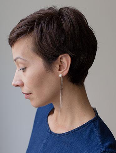 Pearls Earrings Silver