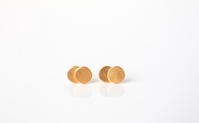 Pailettes Earrings Gold