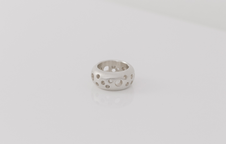 Puncture Ring Silver