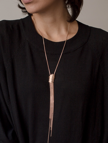 Waterfall Necklace Red