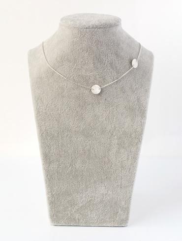 Pailettes Necklace Silver