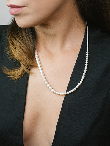 Fairytale Pearls Necklace Silver Short