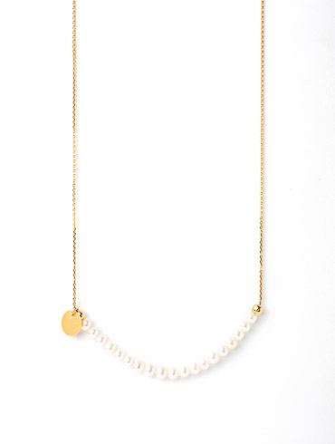 Fairytale Pearls Necklace Gold Short