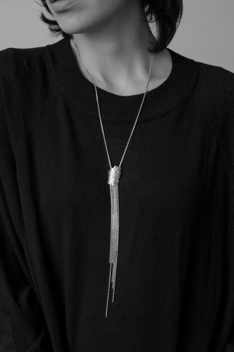 Monir Jewellery_Waterfall_Necklace_Silver